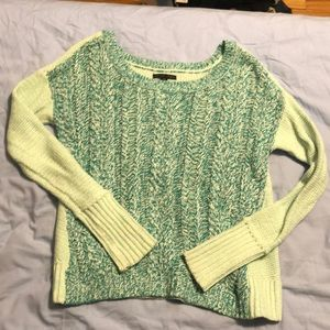 American Eagle Mint green and turquoise sweater